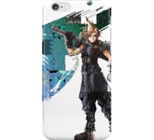 Cloud Strife Gridwork design & logo iPhone Case/Skin