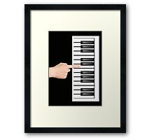 single hand Framed Print