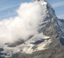 Clouds on Matterhorn Sticker