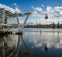 Thames Cable Car over London's Docklands by Carolyn Eaton