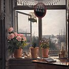 Martinus Rørbye - View from the Artist's Window, a painting  in 1825 by Adam Asar