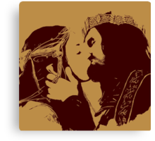 Aragorn and Arwen Kiss Canvas Print