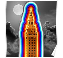 Miami Freedom Tower Cuban Liberty Downtown Brickell Poster