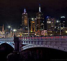 Princes Bridge and St Paul's by FuriousEnnui