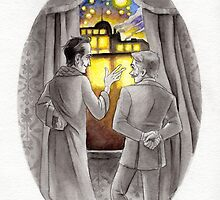 "Life is Infinitely Stranger"" - Holmes and Watson - 221B version #  by livielightyear"