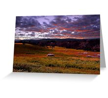 Farmland Sunrise  Greeting Card