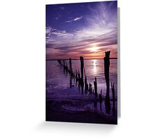 Once was a fence. Greeting Card