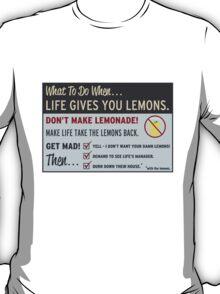 Cave Johnson, Lemons T-Shirt