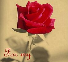 For My Love Vintage Valentine Greeting Card by taiche