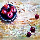 Cherries... with a Picnic Table by ©Janis Zroback