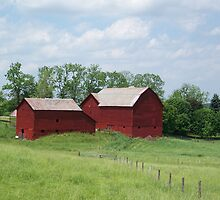 Red Barn on Princeton Station Road by peggywright