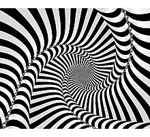 Black and White Spiral Photographic Print