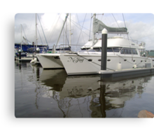 Twin-Hulled Cruiser Metal Print