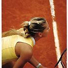 anna kournikova at french open by space