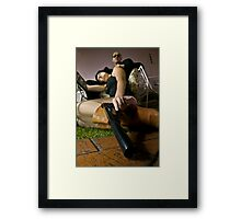 Lola and The Mentor Framed Print