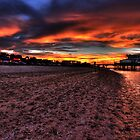 Sunset at Cleethorpes Pier. (Cleethorpes, UK) by baddoggy