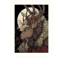 The Elk King Art Print