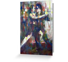 Tango in Lines Greeting Card