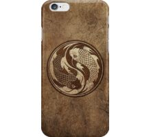 Yin Yang Koi Fish with Rough Texture Effect iPhone Case/Skin