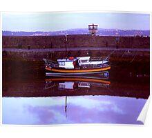 wee orange stripey boat ... Poster
