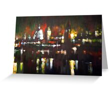 London Skyline Abstract Realism 2008 Greeting Card