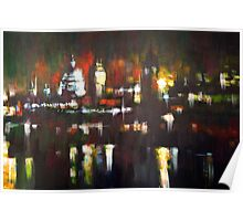 London Skyline Abstract Realism 2008 Poster