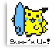 Surf's Up, Pikachu! Canvas Print
