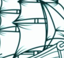 Abandon Ship Ship and Banner Sticker
