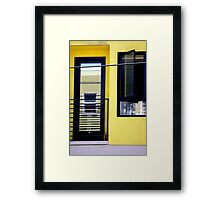 Second And Third Floor Windows With Door Framed Print