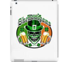 Funny Irish Leprechaun Skull iPad Case/Skin