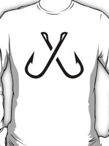 Crossed fishing hooks T-Shirt