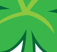 Green clover shamrock for St Patrick's day cute! Sticker
