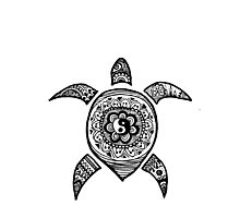 Hippie Sea Turtle Photographic Print
