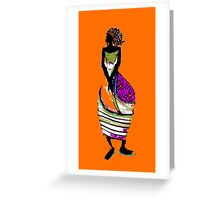 Standing Figure in the Warm Greeting Card