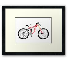 Typographical Anatomy of a Down Hill Bike Framed Print