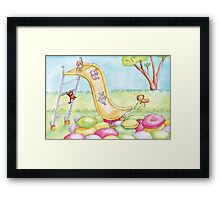 Baby Animal Slide Framed Print