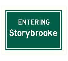 Entering Storybrooke Art Print