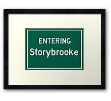 Entering Storybrooke Framed Print