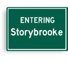 Entering Storybrooke Canvas Print