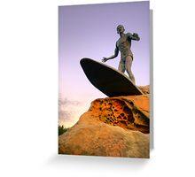Duke Kahanamoku Monument - Freshwater Headland , Sydney Australia Greeting Card