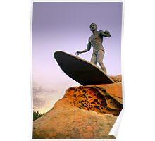Duke Kahanamoku Monument - Freshwater Headland , Sydney Australia Poster