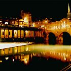 Pultney Bridge and Weir Bath uk by Stephen Thomas Green