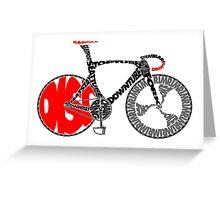 Typographic Anatomy of a Track Bike Greeting Card