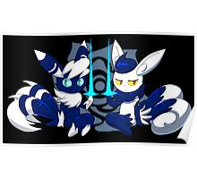 Meowstic Couple Poster