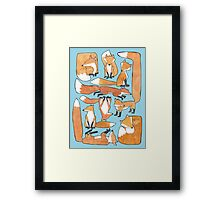 Foxes Collage Framed Print