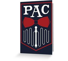 PAC Logo - Red and White Greeting Card