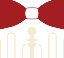 PAC Logo - Red and Cream Sticker