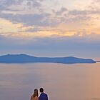 Santorini Couple by Yannis Larios