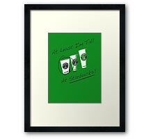 Im Tall ....at Starbucks!! Part 2! Framed Print