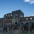 Church and crossing ruins Lanercost Priory Cumbria England 198405260028 by Fred Mitchell